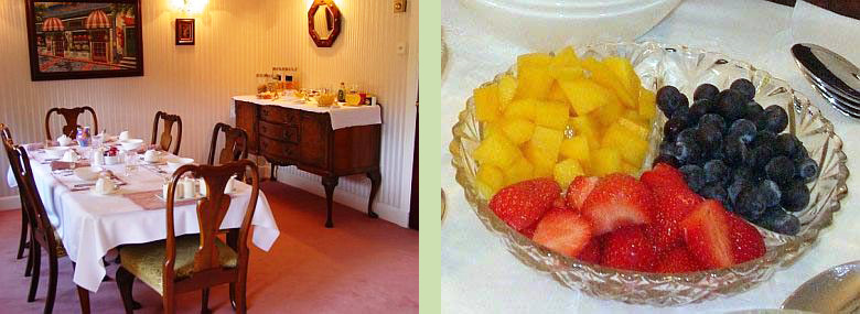 Tigh Na Bruach dining room (left) - Fruit bowl (right)